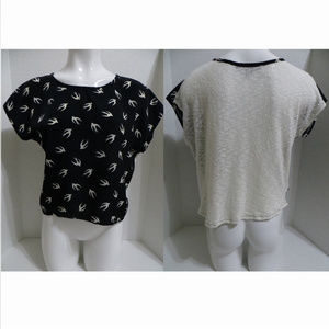 Forever 21 Tops - Forever 21 top Small multi-color bird print